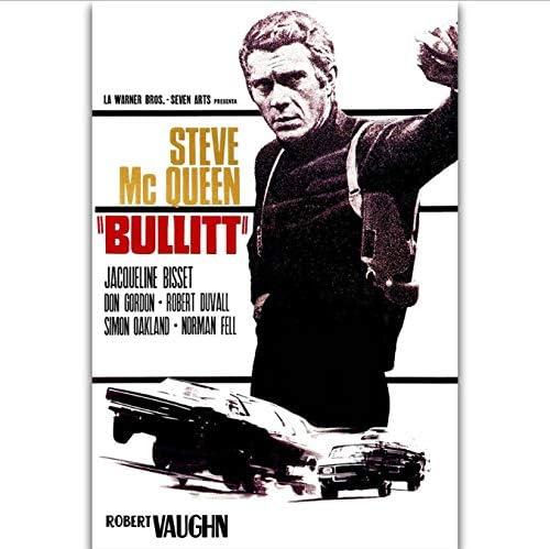 MZCYL Canvas Painting Bullit Classic Movie Wall Art Painting Print On Silk Canvas Poster Decoraci/ón del Hogar 50X70Cm Sin Farme