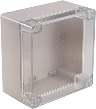 uxcell uxcell 6.3 inches x 6.3 inches x 3.54 inches 160mm x 160mm x 90mm ABS Junction Box Universal Electric Project