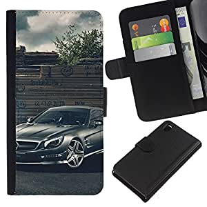 Stuss Case / Funda Carcasa PU de Cuero - Merc German Car - Sony Xperia Z3 D6603