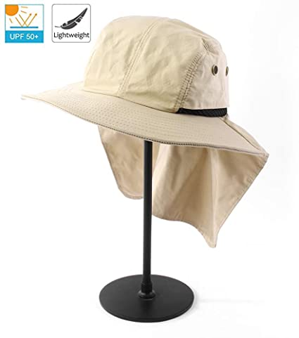 284b39931 Amazon.com : FENDISI Hat with Neck Flap Man Fishing Sun Protection ...