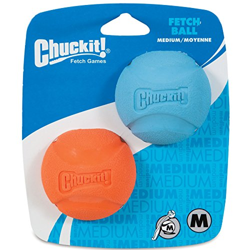 Chuckit! Medium Fetch Ball 2.5-Inch, 2-Pack (Colors Vary)