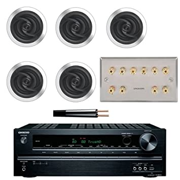5 1 Surround Sound Amp With Aton Ceiling Speakers Cable