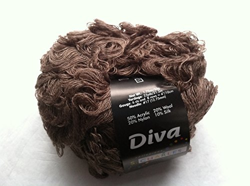 S. Charles Collezione Diva #2062 Mahogany Brown Acrylic Wool Nylon Silk Loop Boucle Yarn 50 Gram
