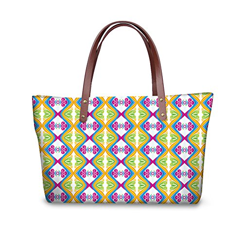 Bages Handle Satchel Women FancyPrint W8ccc3098al Shopping Top Tote Handbags 6qxwE4BC