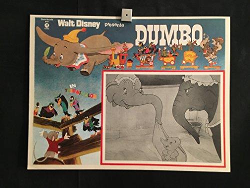 Dumbo 1970 Original Vintage Mexican Lobby Card Movie Poster, Walt Disney, Elephant