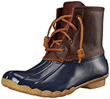 Sperry Womens Saltwater Boots, Tan/Navy, 7.5