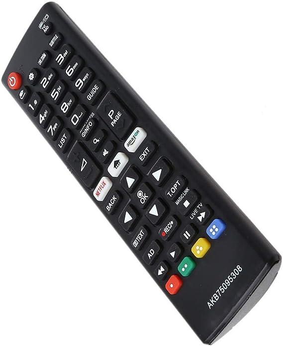 LG AKB75095308 - Mando a distancia de repuesto con botones de Amazon y Netfix, repelente original del Reino Unido para televisores LG LED y LCD, excelente control remoto universal LG.: Amazon.es: Electrónica