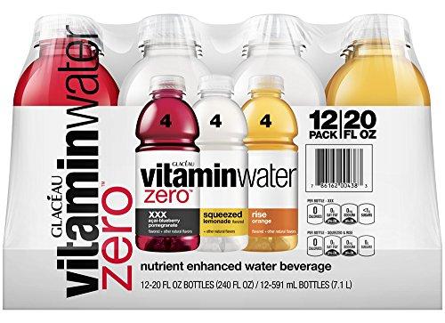 vitaminwater zero variety pack, 20 fl oz (Pack of 12)