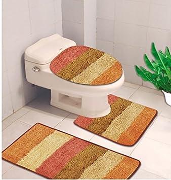 Kashi Home Denise Striped 3 Piece Bath Rub Set, Tub, Contour, Lid Sage RS019393