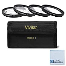 Vivitar 72mm Pro Series High Quality 4pc HD Macro Close Up Filter Set +1 +2 +4 +10 for Olympus 12-60mm f/2.8-4 ED SWD Zuiko Zoom Lens, 11-22mm f/2.8-3.5 ED Lens, Zoom Super Wide Angle 9-18mm f/4-5.6 ED Zuiko Zoom Lens and More Models + eCost Microfiber Cleaning Cloth