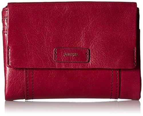 Ellis Multifunction Wallet Raspberry Wine Wallet, Raspberry Wine, One Size - Fossil Top