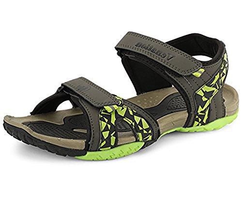 769822de2ea2 Manisha Venation Men s Sandal Olive BLK P.Green Size 9  Buy Online at Low  Prices in India - Amazon.in