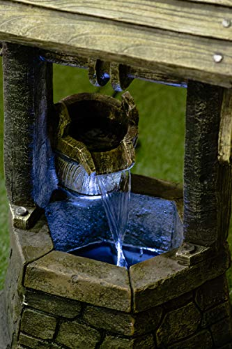 Hi-Line Gift Ltd Fountain- Wishing Well with Pouring Bucket & LED Light by Hi-Line Gift Ltd. (Image #1)