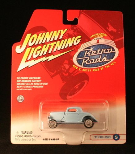 '34 FORD COUPE #5 * BLUE * 2002 Johnny Lightning RETRO RODS Series 1 Limited Edition Die Cast Vehicle * 1 of only 15,000 ()
