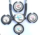 personalized stethoscope - Personalized Medical EKG Heart Standard or Yoke Stethoscope Id Tag for Nurse, Doctor