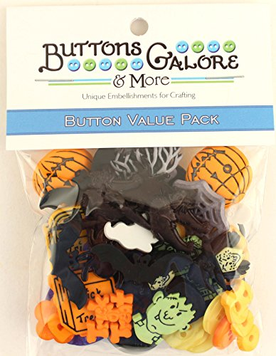 Halloween Embellishments - Buttons Galore Halloween Value Pack-50 Buttons