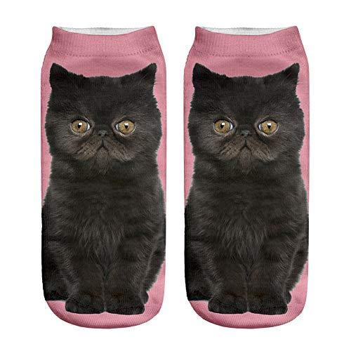 BXzhiri Unisex Short Socks Popular Funny Socks 3D Cat Printed Anklet Socks Casual Socks Low Cut Socks for Men Women