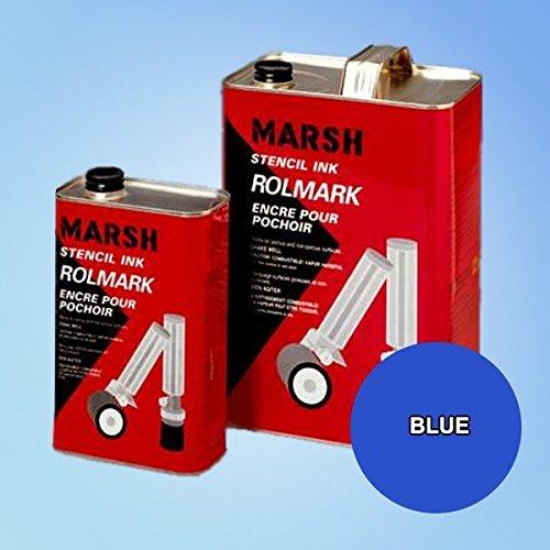 - Marsh Rolmark Blue Ink - Quart