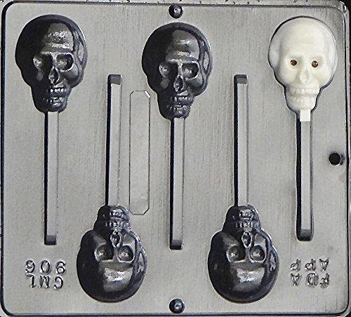 Skull Lollipop Chocolate Candy Mold Halloween 906