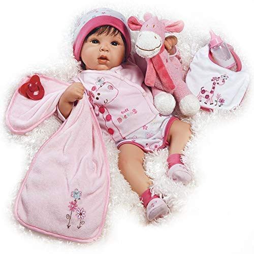 Paradise Galleries Reborn Baby Doll Lifelike Realistic Baby Doll, Tall Dreams Gift Set Ensemble, 19-inch Weighted Baby, for Ages 3+ - Katie Long Jacket