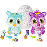 Hatchimals HatchiBabies Chipadee Hatching Egg with Interactive Pet Baby (Styles May Vary) for Ages 5 and Up (Amazon Exclusive) Responsive Plush Surprise Doll with Accessories, Great for Holiday Gifts