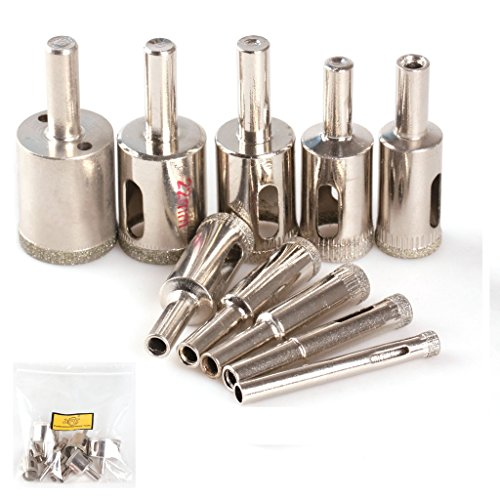 ZFE 6mm-30mm Diamond Hole Saw Drill Bit Set Tile Ceramic Glass Porcelain Marble Hole Saw Cutter pack of 10Pcs (Granite Cutter Machine compare prices)