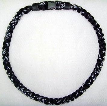 9178b2a4de4a1 Athletic All Black 20IN Titanium Sport Necklace for Men by Power Sport