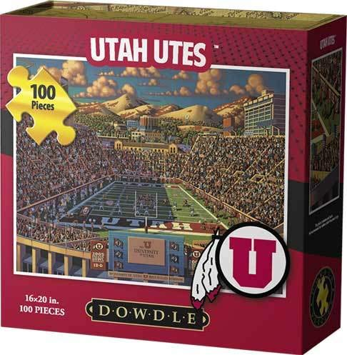 (Dowdle Folk Art Jigsaw Puzzle - University of Utah Utes-U of U-100 Pc)