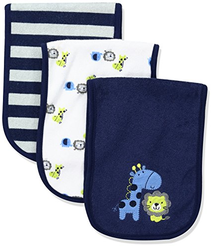 Gerber Baby 3 Pack Terry Burpcloth, Safari, One Size (And Accessories Clothes)