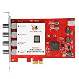 TBS Dual Tuner PCIe Card Multi Standard Digital TV Card Live TV/ Window/ Linux/ HTPC/ IPTV Server