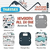 Thirsties Package, Newborn All In One Hook & Loop, Outdoor Adventure Collection Adventure Trail