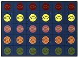 5'4'' x 7'8'' Joy Carpets Faith Based Circles and Symbols 1497 - Multi Rectangular
