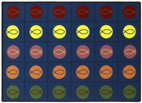5'4'' x 7'8'' Joy Carpets Faith Based Circles and Symbols 1497 - Multi Rectangular by Joy Carpets