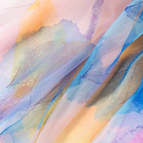 Classique Lavis Soie Écharpe Souple Foulard Coloré Fleurs Longue Imprimé Satin Multicolore Spécial Léger Chic Transparent Femme Aivtalk Mode fIWqpq4