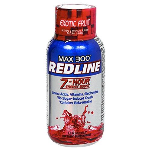 36 Pack - Redline Power Rush 7-Hour Energy Shot - Exotic Fruit - 2.5oz.