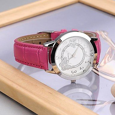 (Men's Watches Women's Fashionable Style Alloy Analog Quartz PU Watch(Assorted Colors) Womens Watches (Color : Rose, Size : One Size))