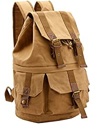 Menschwear Canvas Backpack Camera Bag Rucksack Hiking Travel Tote Back Bag 40cm