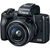Canon EOS M50 Mirrorless Camera Kit w/EF-M15-45mm and 4K Video (Black) (Certified Refurbished)