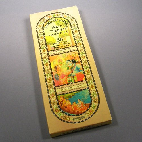 Indian Temple Incense - Song of India - India Temple Incense, 50 Stick Pack, (IN8)