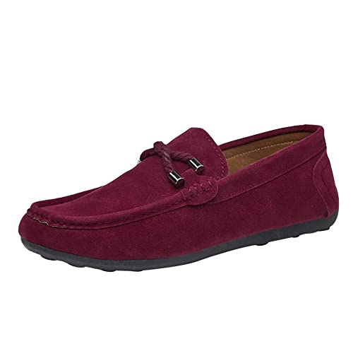 détaillant en ligne afc9c c9c79 Hommes Classique Original Daim Penny Loafers Confortable Chaussures de  Conduite Chaussures à Enfiler Plates Mocassin Chaussons Chaussures Bateau  Homme