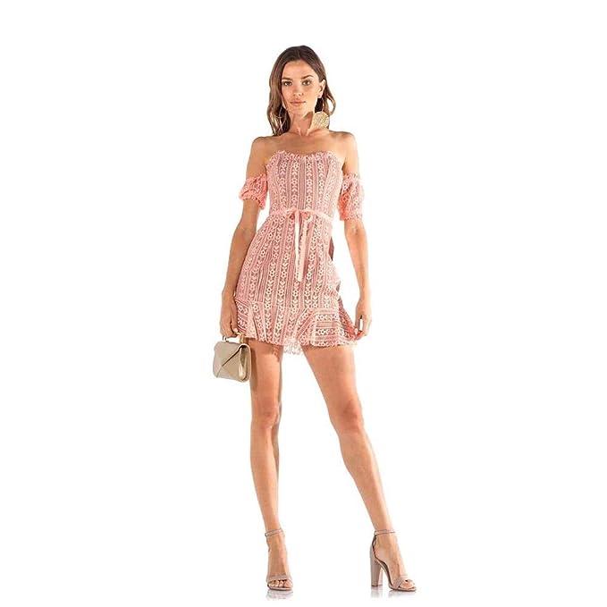 Amazoncom For Love And Lemons Dakota Lace Mini Dress Peach