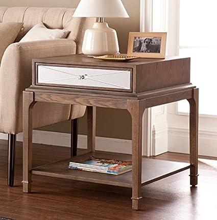 Awe Inspiring Amazon Com Square End Table With Storage Drawer Side Table Frankydiablos Diy Chair Ideas Frankydiabloscom