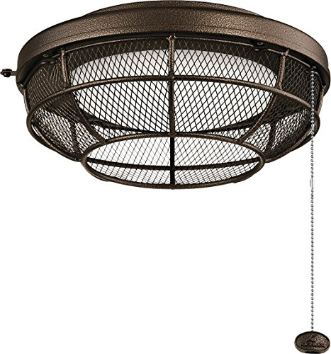 (Kichler 380952WCP Industrial Mesh Outdoor 1-Light Kit, LED 17 Watts, Weathered Copper Powder Coat)