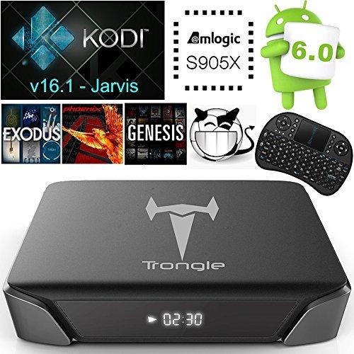 [Mit Wireless Mini Tastatur] SEGURO X2 Android 6.0 TV Box KODI 16.1 Streaming Media Player Amlogic S905X Quad Core 2GB+8GB eingebaute WIFI mit vorinstallierte Add-ons