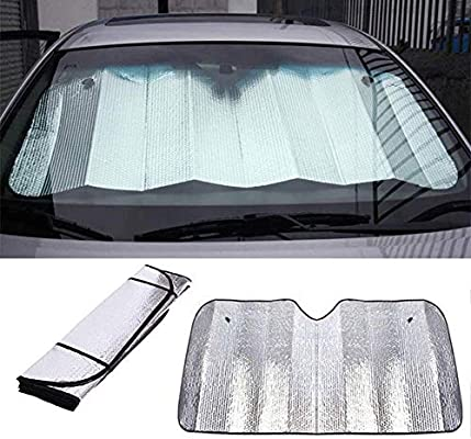 Automatic Retractable Foldable Dust Cover Sun Shade For Almost All Cars Womdee Flexible Car Windscreen Sunshade Anti UV Retractable Car Cooling Sunshade