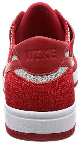 Homme Chaussures Nike Flyknit wolf University Basketball de Grey Dunk White Red HAHXxqnBE