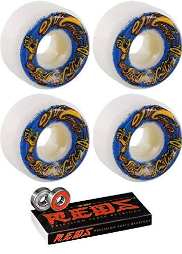 新しい OJ Wheels 54mm エリート ミニ - ミニ 2個セット コンボ ホワイト スケートボード ホイール - 101a ボーンベアリング付き - 8mm ボーン レッド 精密 スケートボード ベアリング - 2個セット B07L1RDSYD, KICHI-KICHE:e19e2010 --- mvd.ee