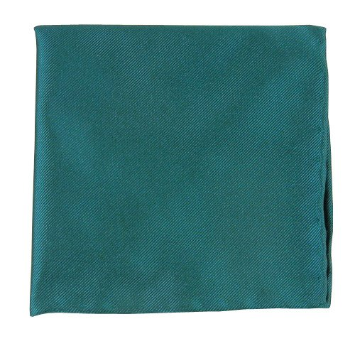 The Tie Bar Solid Twill Green Teal Pocket Square by TheTieBar