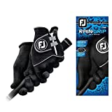 FootJoy Men's RainGrip Pair Golf Glove Black Medium, Pair