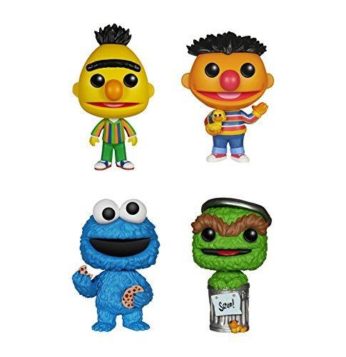 Funko Sesame Street POP! TV Vinyl Collectors Set: Bert, Ernie, Cookie Monster & Oscar Grouch Action Figure by FunKo